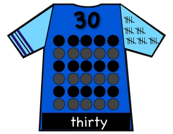 Number Charts- numeral, number word, counting, and tallies.
