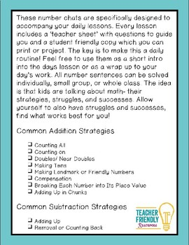 Number Chat-First Grade-Module 1-Common Core and Engage New York Aligned