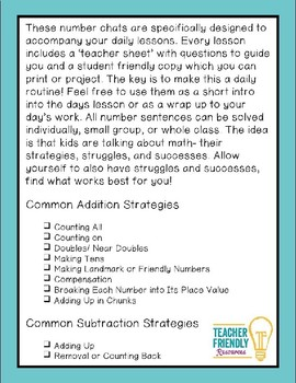 Number Chat-First Grade-Module 5-Common Core and Engage New York Aligned