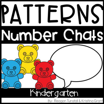 Number Chats Bundle for the Year Kindergarten