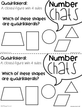 Number Chats Second Grade Bundle