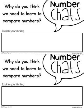Number Chats Kindergarten Comparing Numbers