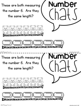 Number Chats Kindergarten Measurement