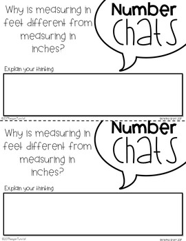 Number Chats Measurement Second Grade