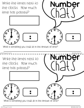 Number Chats Time Second Grade