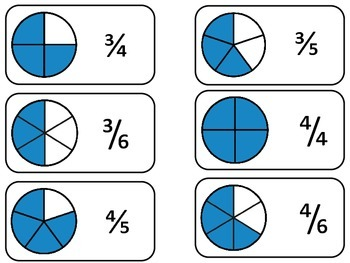 number circle fractions printable flash cards math fractions flashcards. Black Bedroom Furniture Sets. Home Design Ideas