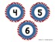 Number Circle Freebie: Red, White, and Blue (#1-36)