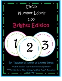 Number Circle Labels 1-30 - Brights Edition