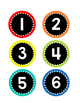 Number Circle Labels