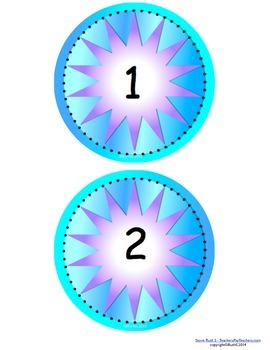 Number Circles 0 - 50 with Operations Signs and More