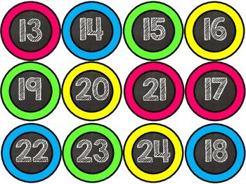 Number Circles - Blackboard