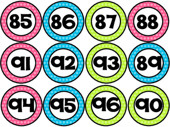 Number Circles - Polka Dot