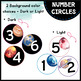 Number Circles - Space Galaxy Theme - Classroom Decor