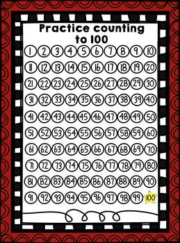 100s Chart Practice Fun!