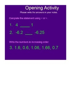 Number Classification and Absolute Value