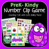 Number Clip Activity - Clip Peg on Matching Number 1-20 Preschool Counting Game