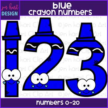 Number Clip Art- Blue Crayon Numbers {jen hart Clip Art}