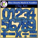 Number Clip Art Blue Hearts