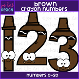 Number Clip Art- Brown Crayon Numbers {jen hart Clip Art}