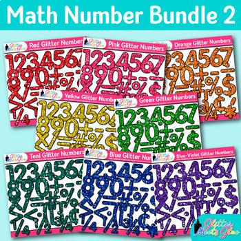 Number Clip Art Bundle: 8 Packs of Letter Graphic {Glitter Meets Glue Designs}