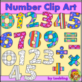 Number Clip Art - Color and B / W Numbers and Basic Operations