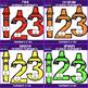 Number Clip Art- Crayon Numbers {jen hart Clip Art}