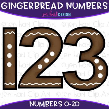 Number Clip Art- Gingerbread Numbers {jen hart Clip Art}
