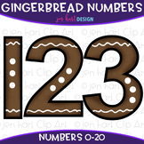 Number Clip Art- Gingerbread Numbers {jen hart Clip Art}