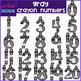 Number Clip Art- Gray Crayon Numbers {jen hart Clip Art}