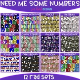 Number Clip Art - Need Me Some Numbers  Bundle {jen hart C