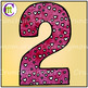 Number Clip Art Pink Hearts