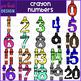 Number Clip Art- Rainbow Crayon Numbers {jen hart Clip Art}
