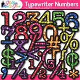 Rainbow Typewriter Numbers Clip Art {Glitter Meets Glue}