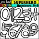 Number Clip Art {Superheroes}