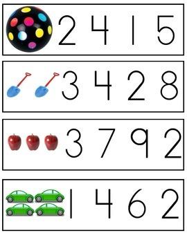 Number Clip Cards 0 - 10