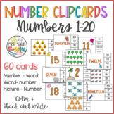 Number Clip Cards 1 - 20
