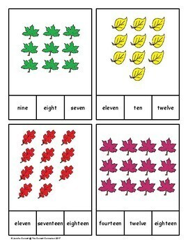 Number Clip Cards 1-20 Fall Themed