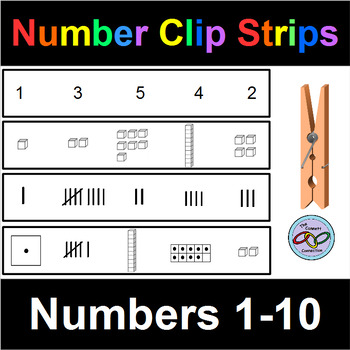 Number Clip Strips 1-10