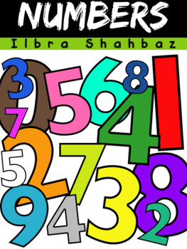 number clipart 0 9 by ilbra israel teachers pay teachers rh teacherspayteachers com free number clipart for teachers Teacher Valentine Clip Art