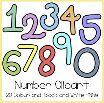 number clipart by high5 clipart teachers pay teachers rh teacherspayteachers com Printable Clip Art for Teachers Educational Clip Art for Teachers