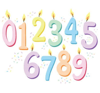 Number Clipart Birthday Candle Clip Art Pastel Candles