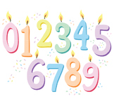Number Clipart, Birthday Candle Clip Art, Pastel Birthday