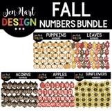 Number Clipart - Fall Bundle - Jen Hart Design