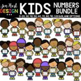 Number Clipart - Kid Number Clip Art Bundle - Jen Hart Design