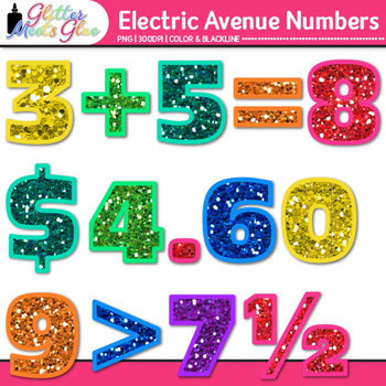 Electric Avenue Numbers Clip Art {Great for Classroom Decor & Resources}