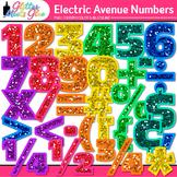 Electric Avenue Numbers Clip Art {Glitter Meets Glue}