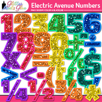Electric Avenue Numbers Clip Art {Great for Classroom Deco