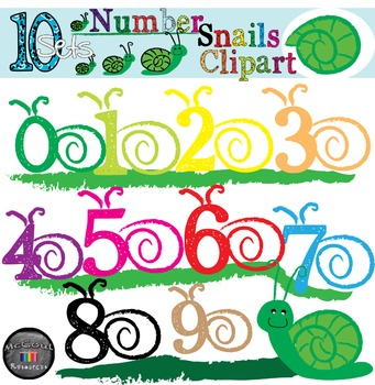 Number Clipart Snails