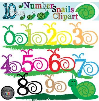 Number Clipart Snails