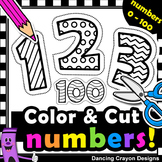 Number Clip Art with Cutting Lines | Tracing Lines | Clip Art for Teachers